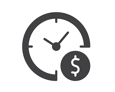 Clock with Money Sign